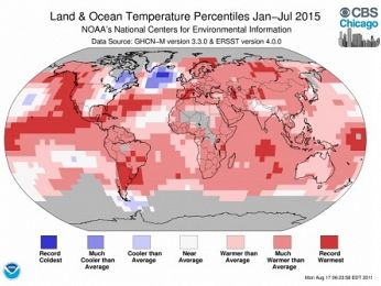 July 2015 was officially the hottest month on record. Ever.