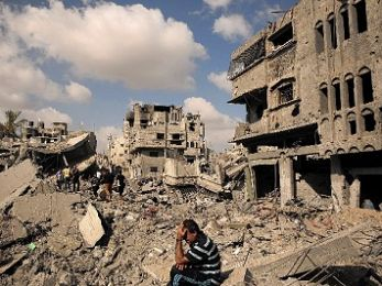 After a year of war on the Gaza Strip, reconstruction no nearer