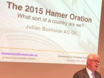 Julian Burnside: What sort of country are we?