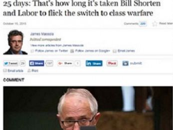 Class clowns: The Press Gallery's nauseating Malcolm Turnbull love affair