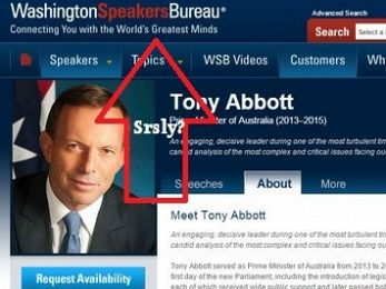 Buyer beware! The Washington Speakers Bureau and Tony Abbott's $40,000 mind