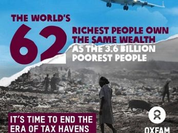 Inequality overload: World's 62 richest people now own as much as poorest half