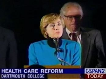 Behind you! Hillary Clinton healthcare hit on Bernie Sanders backfires badly