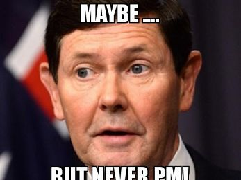 Serial dud Kevin Andrews as Prime Minister? No way, press gallery!
