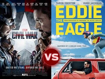 Screen Themes – Eddie The Eagle vs Captain America: Civil War