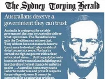 The Sydney Morning Herald fades to a Tory sunset