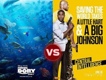 Screen Themes: Finding Dory vs Central Intelligence