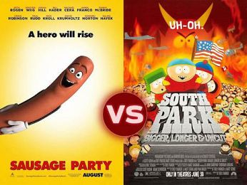 Screen Themes: Sausage Party vs South Park: Bigger, Longer and Uncut