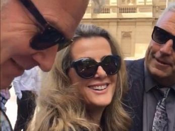 Kathy Jackson laughs after facing a Melbourne court on criminal charges
