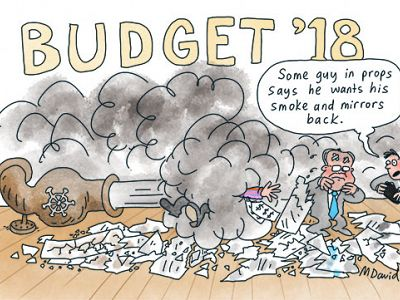CARTOONS: Malcolm's Budget trickles down
