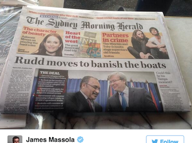Stopping the boats: A graph for lazy journalists