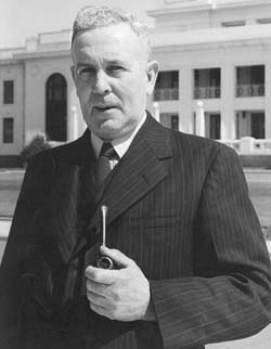 Prime Minister and former railway driver Ben Chifley