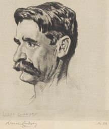 Henry Lawson portrait by Lionel Lindsay