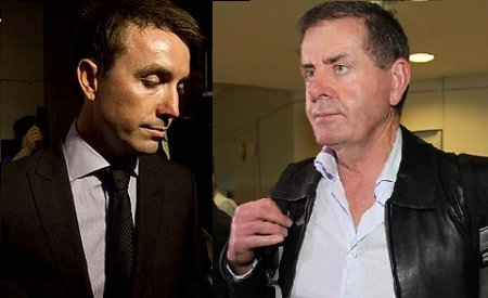 James Ashby and his former employer Peter Slipper.