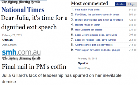 Sample of some of Fairfax''''''''''''''''s headlines