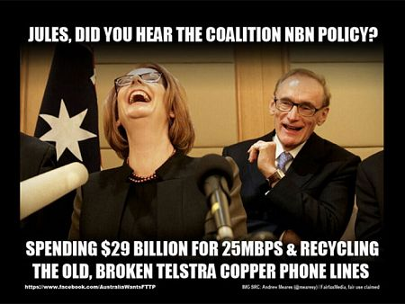 One of the memes that quickly sprang up in response to the Coalition broadband announcement.