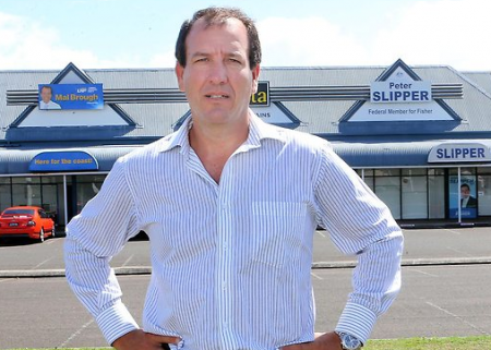 Mal Brough has set up shop almost next door to Peter Slipper. (Image courtesy The Australian.)