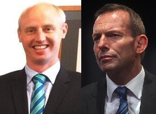 Dr Mark John Roberts and Tony Abbott.