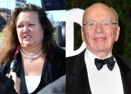 The people who own the news: Gina Rinehart and Rupert Murdoch.