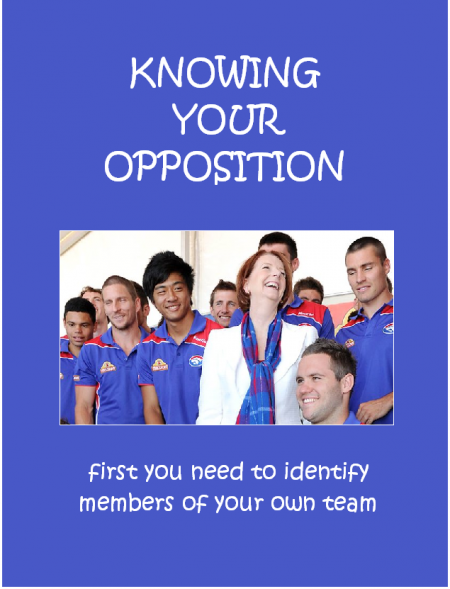 Knowing Your Opposition 1