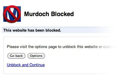 Block Murdoch Chrome app