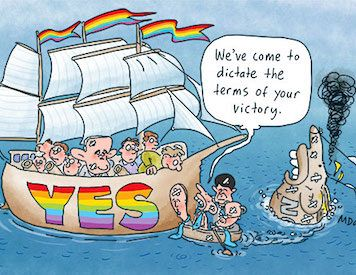 Same-sex marriage 'Yes' vote: High Noon in the Christian religion