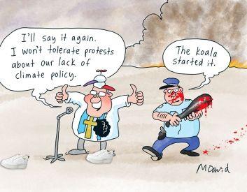 Australia's coal production directly killing animals like the koala
