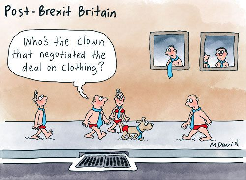 CARTOONS: Mark David is Britain bound
