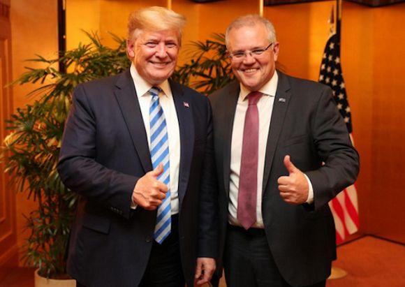 MUNGO MACCALLUM: Trump's treachery and Morrison's meek response