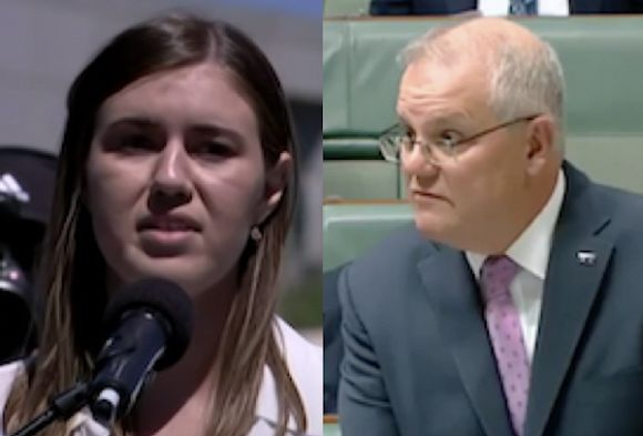 Morrison tells women protesting violence they're lucky not to be shot