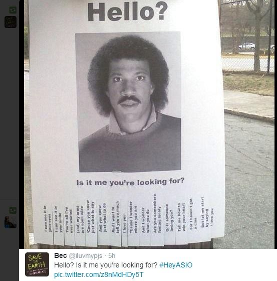 #HeyASIO: Is it me you're looking for?