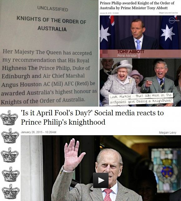 PM Abbott awards imperial bauble to Prince Philip: Time to end the farce