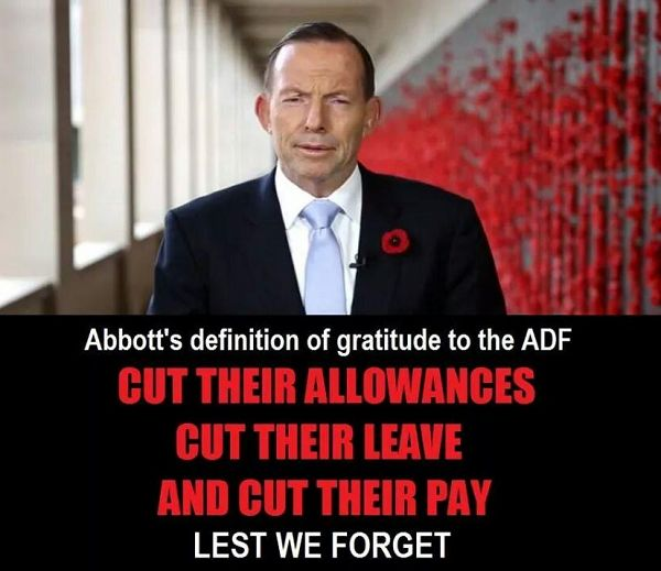 Tony Abbotts War Against Veterans