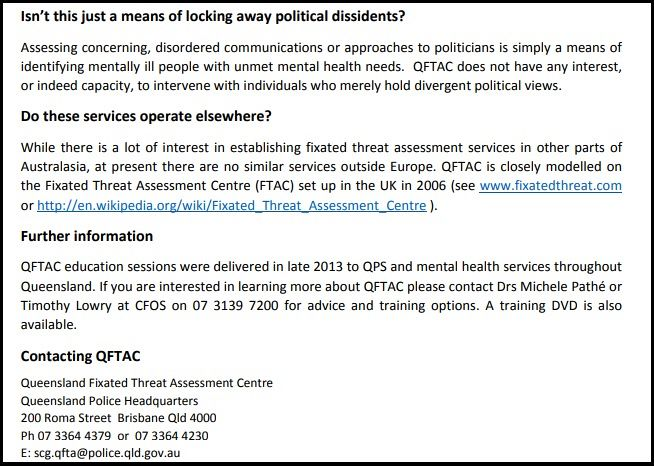 Queensland Police S Orwellian Fixated Persons Unit