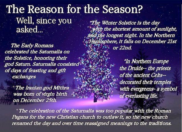 Christmas Is A Pagan Holiday.The War On Christmas Myth Part Three Happy Saturnalia