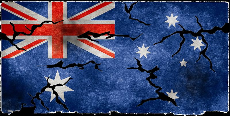 the unravelling of the flag on australia day