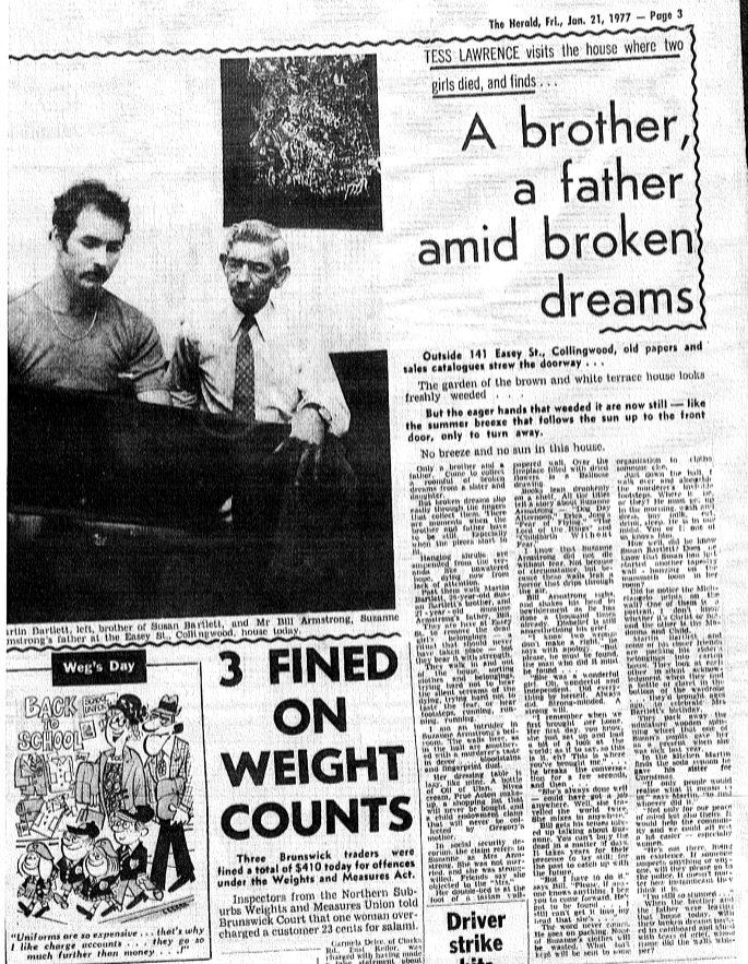 Original Easey St murders article that triggered call from possible murderer