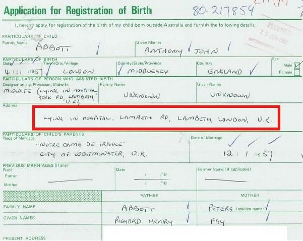 NEW APPLICATION FOR BIRTH CERTIFICATE TASMANIA