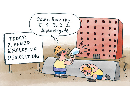 Wren's Week: #Watergate, happy clappers and Hanson's dinosaurs