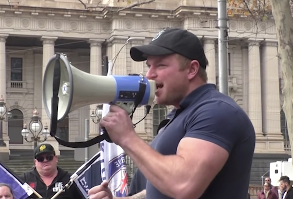 Cottrell is no 'freedom of speech' advocate but a violent fascist