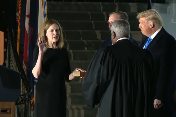 The appointment of Amy Coney Barrett has stacked the Court in Trump's favour
